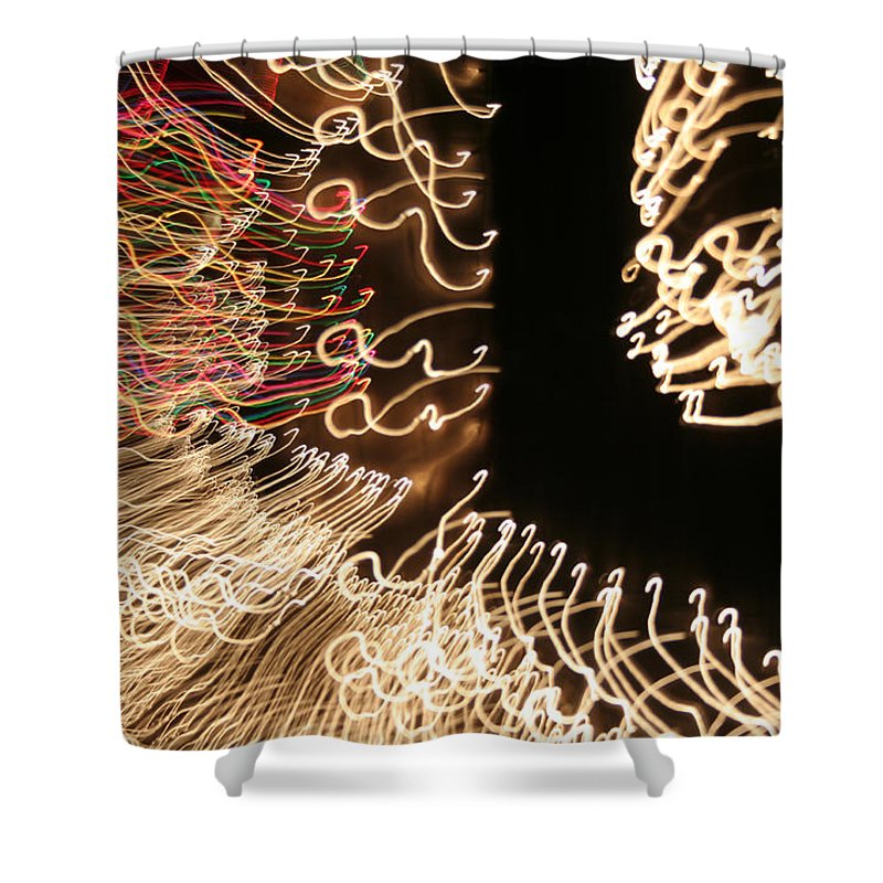 Abstract Shower Curtain featuring the photograph A Light Abstraction by Ric Bascobert