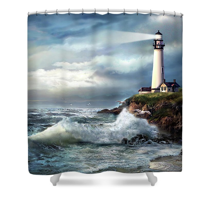 A Light Of Hope Pigeon Point Lighthouse Shower Curtain For Sale By Regina Femrite