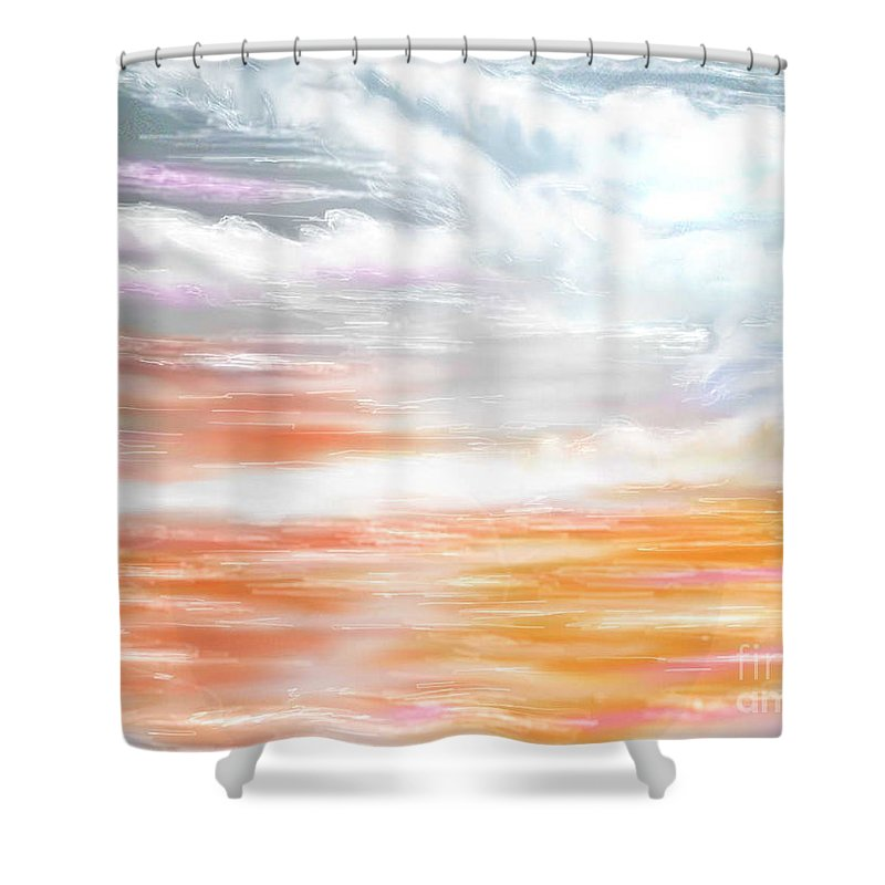 Inspirational Art Shower Curtain featuring the digital art A Light Unto My Path by Brenda L Spencer