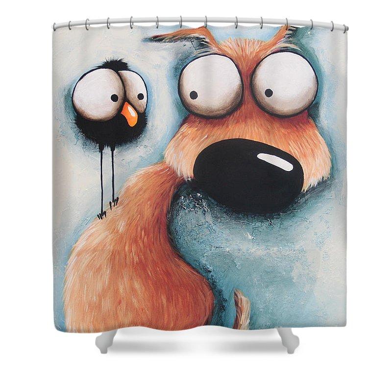 A Little Tattle Tale Shower Curtain For Sale By Lucia Stewart