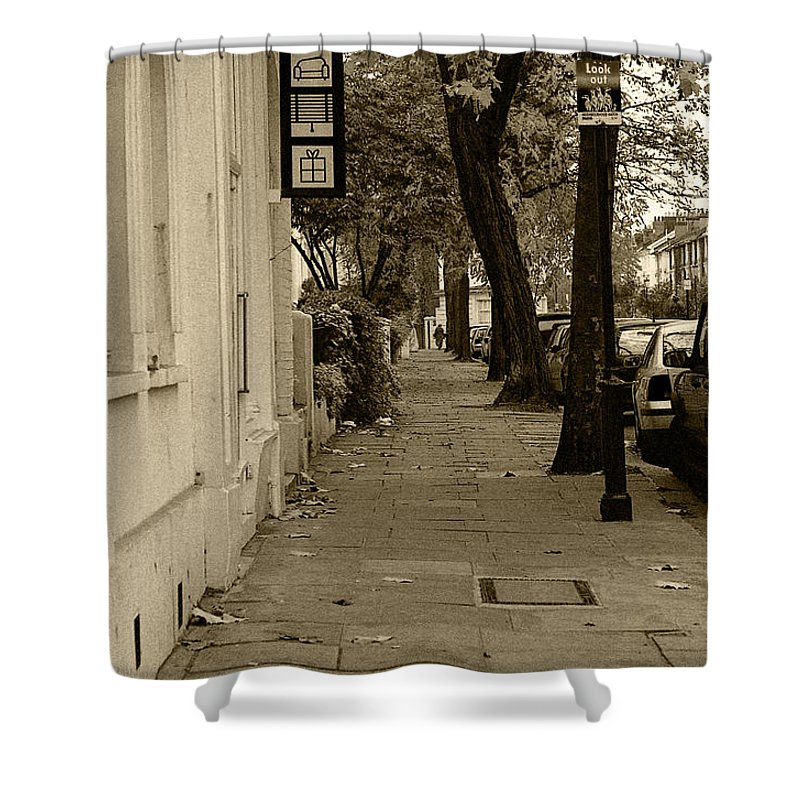 London Shower Curtain featuring the photograph A London Street I by Ayesha Lakes