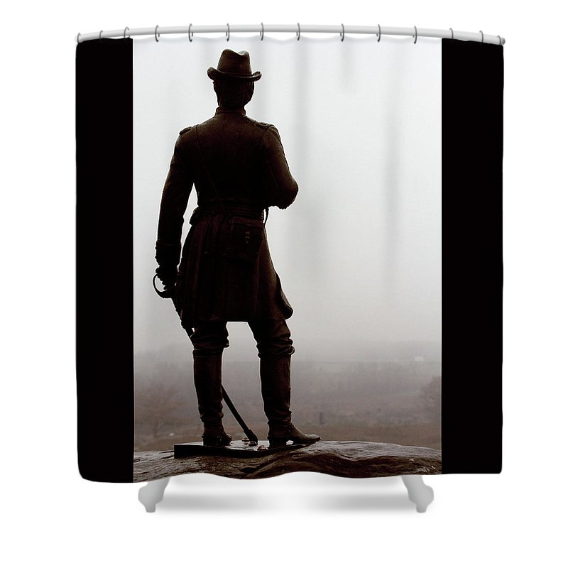 Civil War Shower Curtain featuring the photograph A Look Over Little Round Top by Susie Gordon