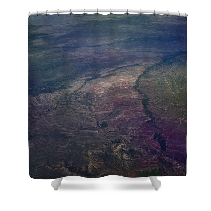 Aerial Photography Shower Curtain featuring the photograph A Midwestern Landscape by Richard Rizzo