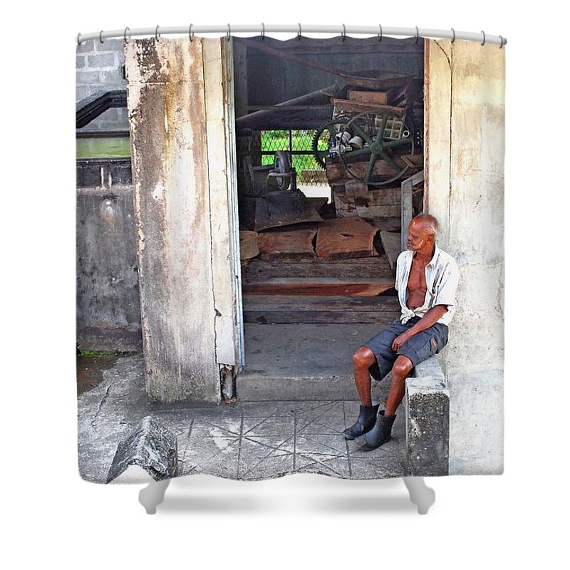 Man Shower Curtain featuring the photograph A Moment Of Reflection by Gary Wonning