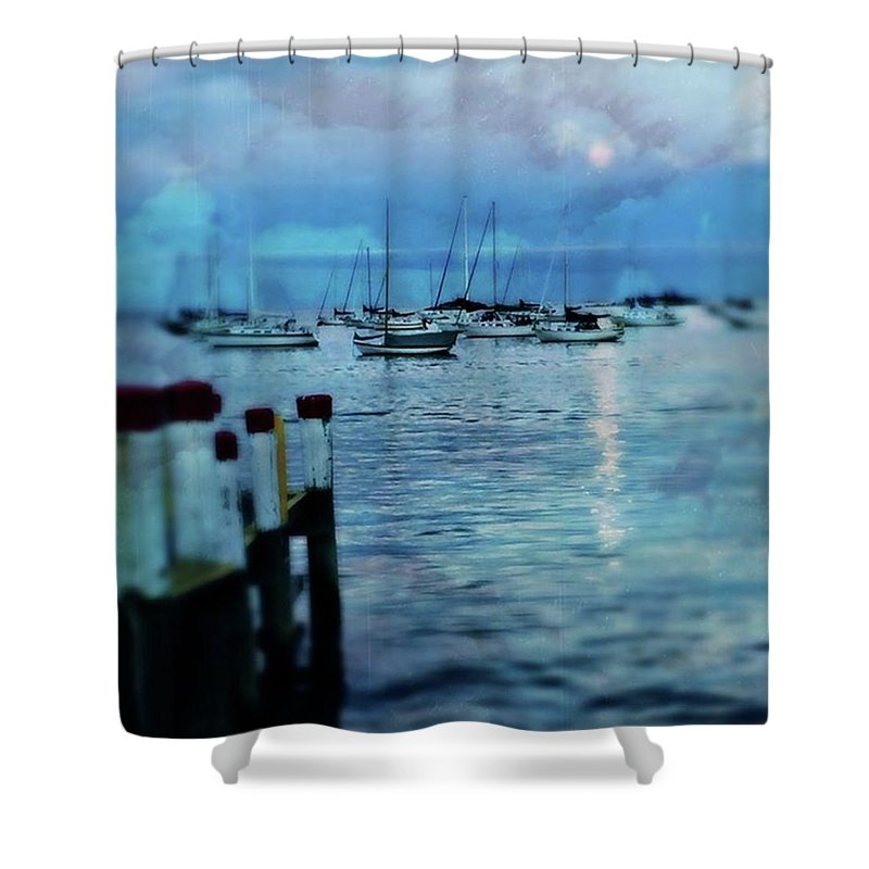 Summervacation Shower Curtain featuring the photograph Mystic by Addie Kaen