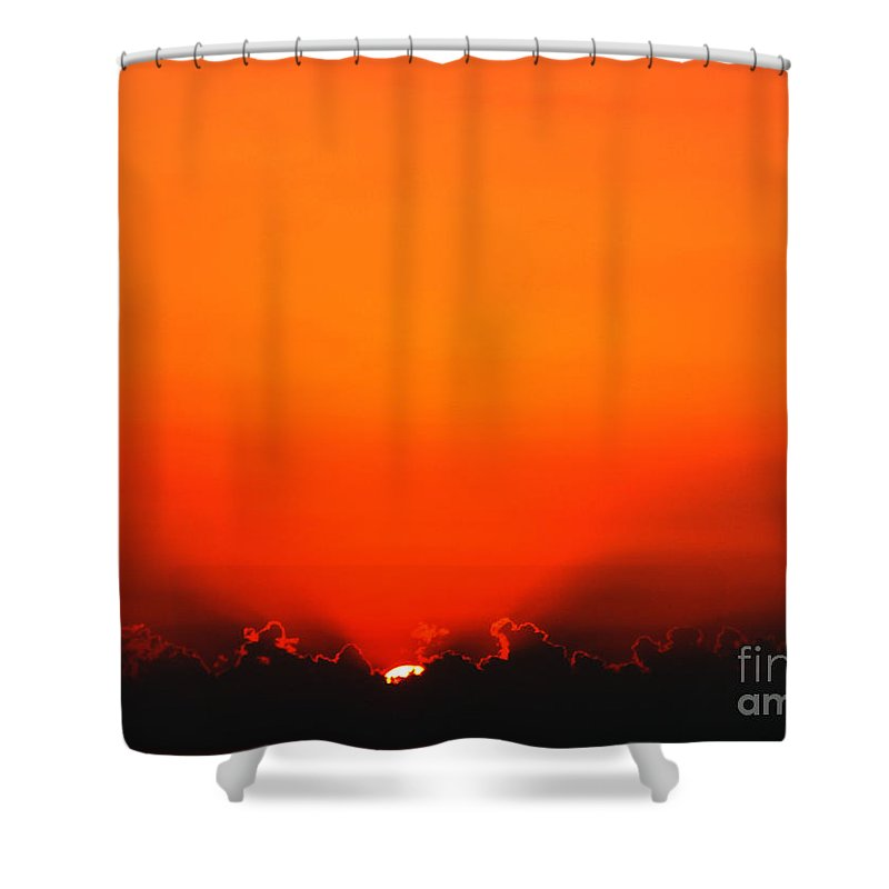 Sun Shower Curtain featuring the photograph A New Day by Amanda Barcon