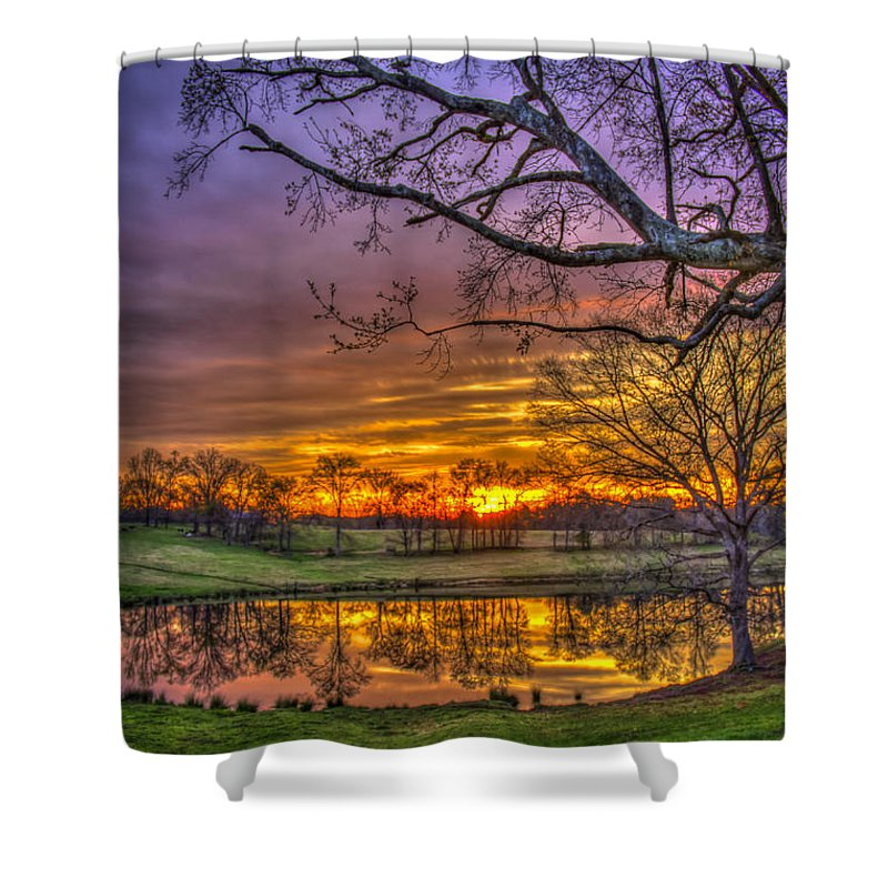 Reid Callaway Sunrise Shower Curtain featuring the photograph A New Day Dawns by Reid Callaway