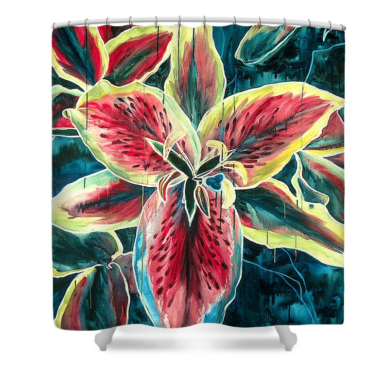 Floral Painting Shower Curtain featuring the painting A New Day by Jennifer McDuffie