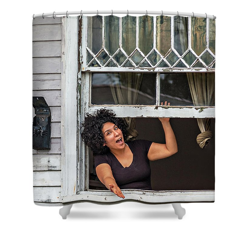New Orleans Shower Curtain featuring the photograph A New Orleans Greeting by Steve Harrington