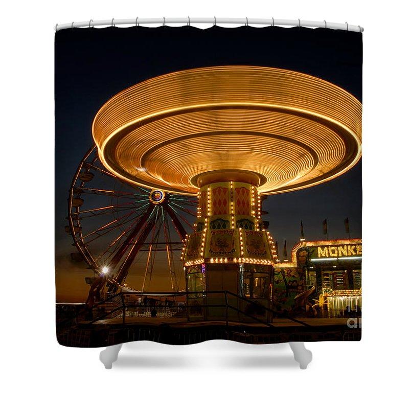 Fair Shower Curtain featuring the photograph A Night At The Fair by David Lee Thompson