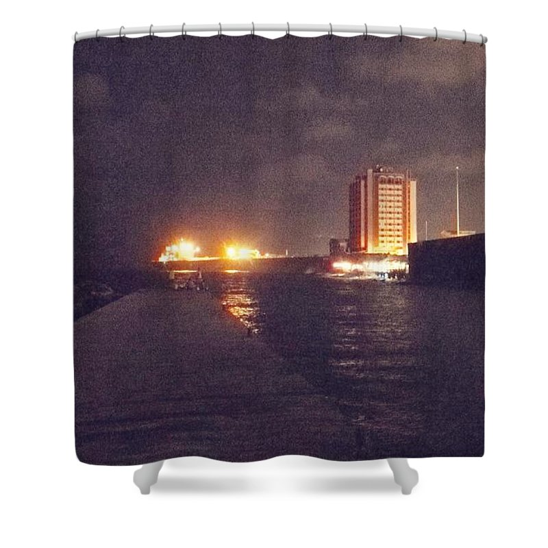 Otrabanda Shower Curtain featuring the photograph A Night On The Town by Natascha Merianagroene