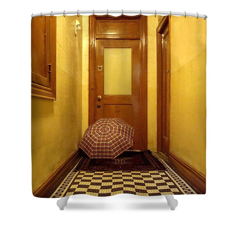 Wood Shower Curtain featuring the photograph A Rainy Day In Astoria by Joseph Mari