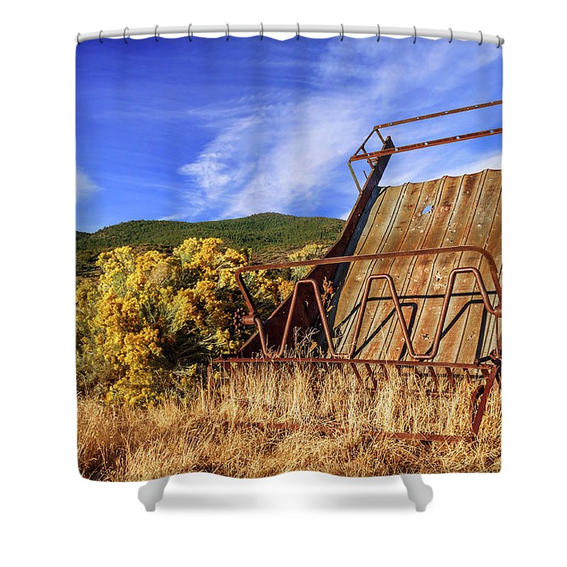 Old Shower Curtain featuring the photograph A Reminder Of The Past by James Eddy