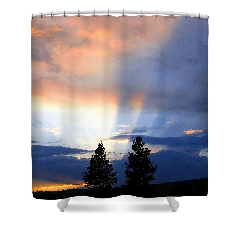 Sky Shower Curtain featuring the photograph A Riveting Sky by Will Borden