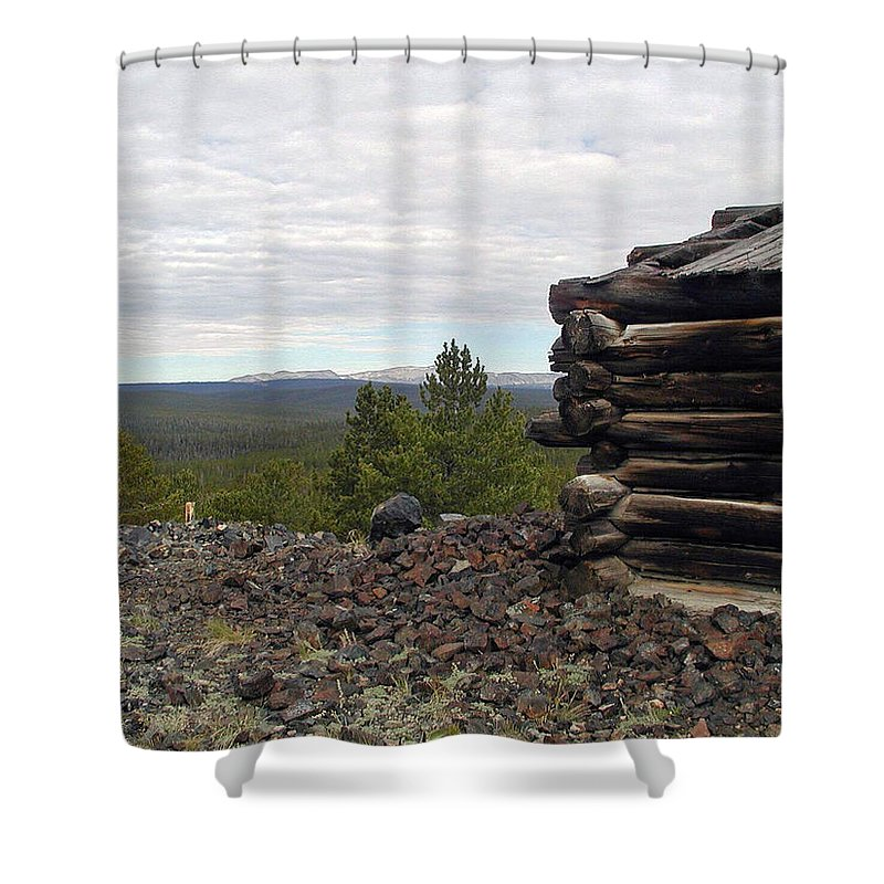 Mine Shower Curtain featuring the photograph A Room With A View by Forrest Shaw