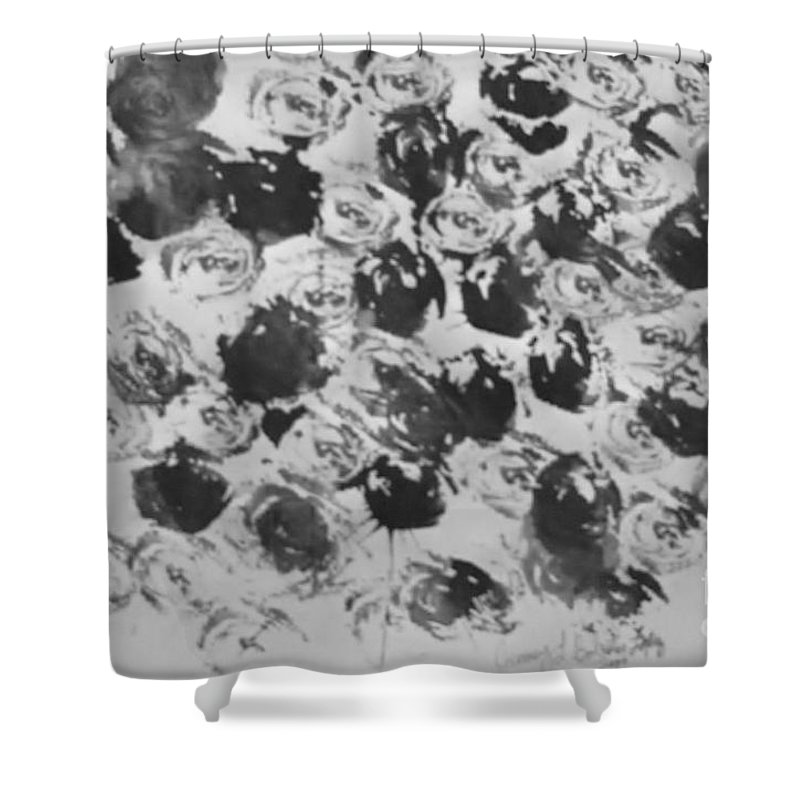 Abstract Shower Curtain featuring the painting A Rose Is A Rose by Jamey Balester