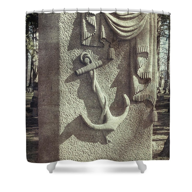 Buildings Shower Curtain featuring the photograph A Sailor's Marker by Guy Whiteley