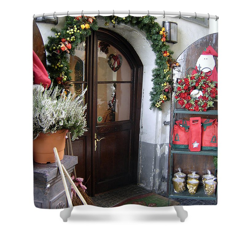 Santa Shower Curtain featuring the photograph A Salzburg Christmas by Mary Rogers