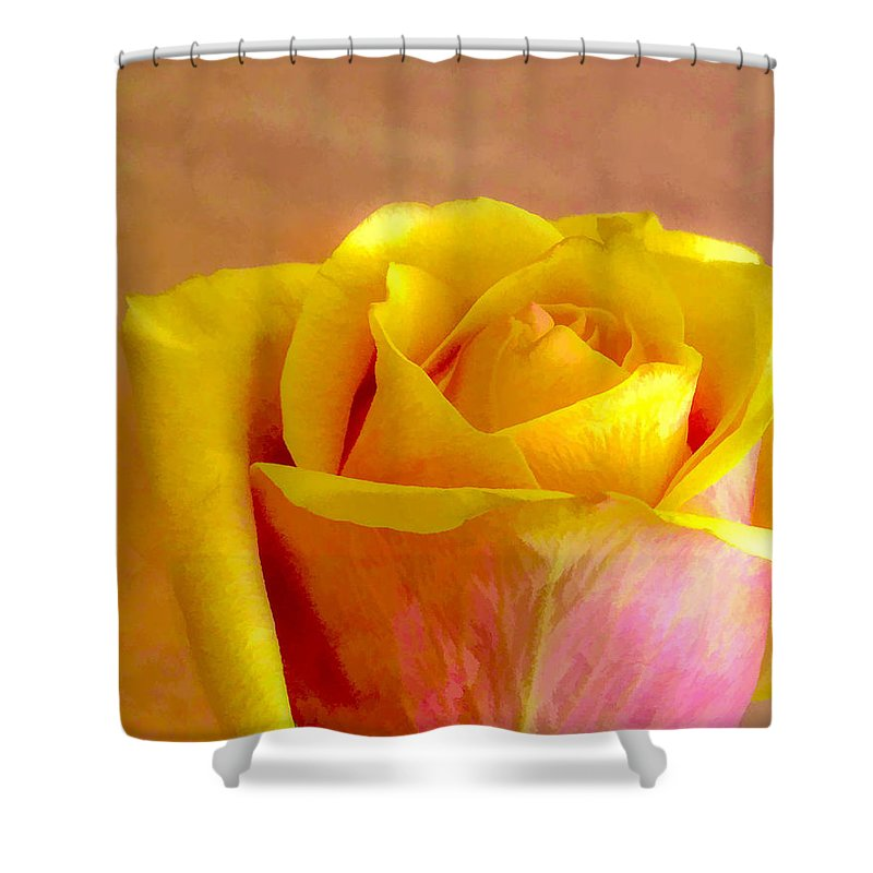 Flower Shower Curtain featuring the photograph A Single Rose by Ches Black
