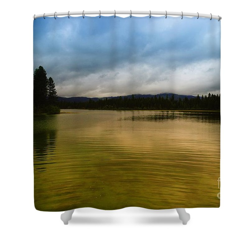 Water Shower Curtain featuring the photograph A Small Peice Of Paradise by Jeff Swan