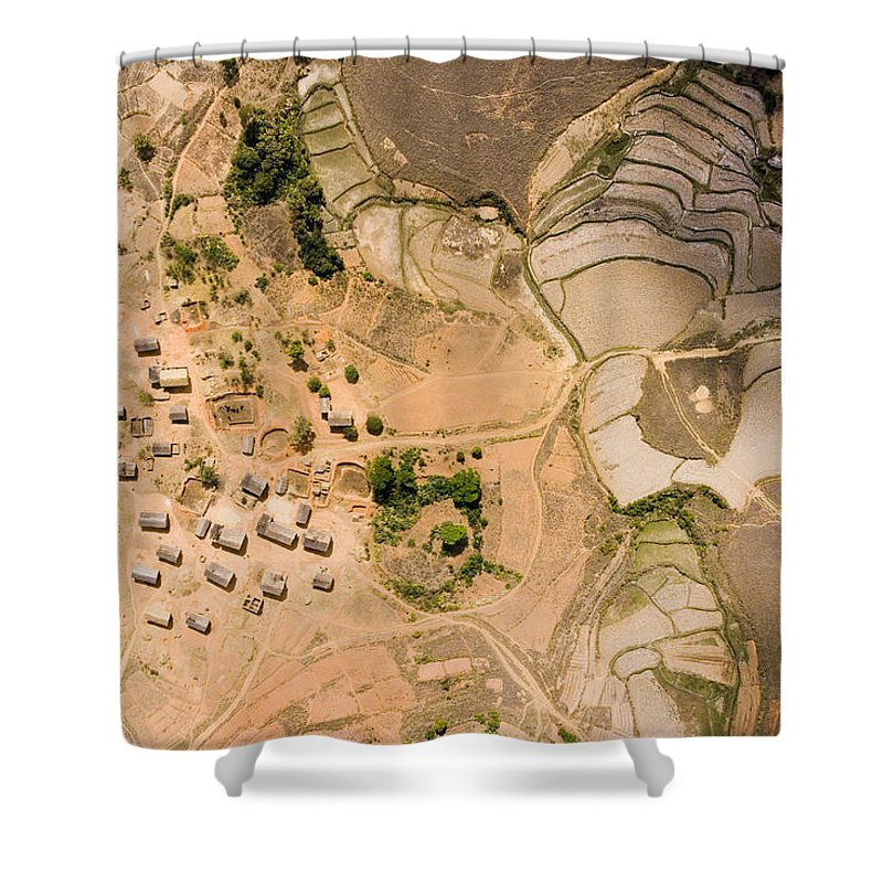 Landscape Shower Curtain featuring the photograph A Small Rice Village In The Central by Michael Fay
