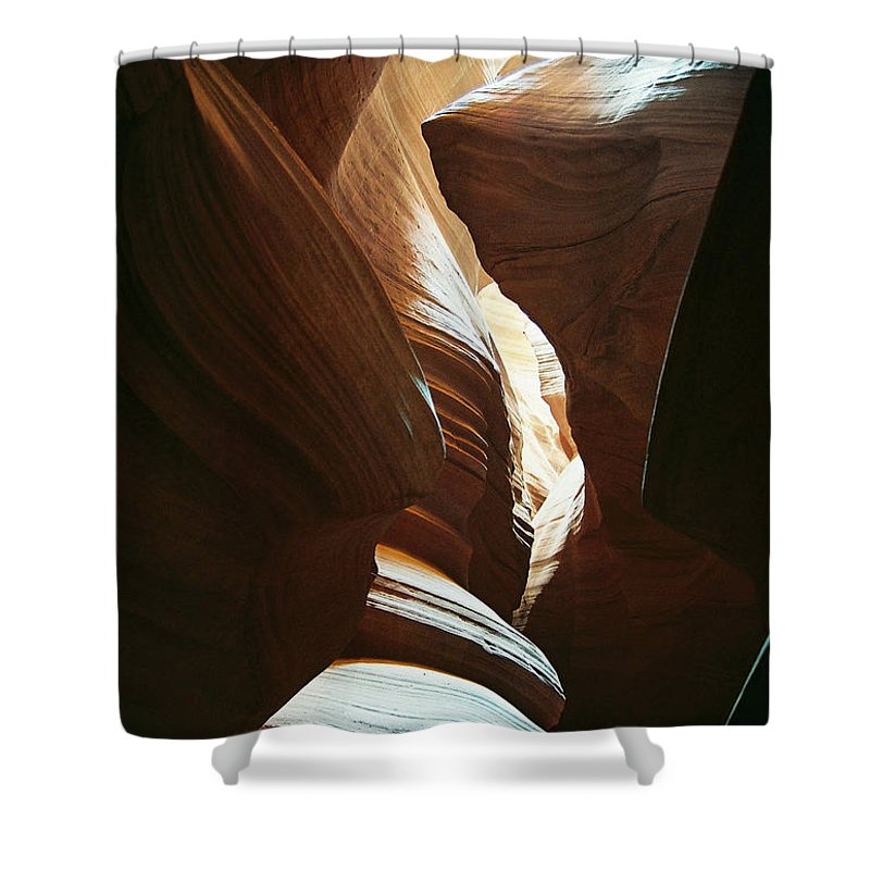 Arizona Shower Curtain featuring the photograph A Spritual Light by Cathy Franklin