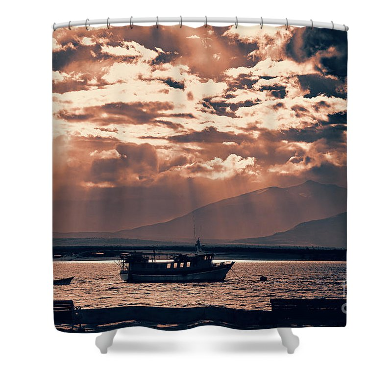 Chile Art Work Natales Shower Curtain featuring the photograph A Taste Of Natales by Rick Bragan