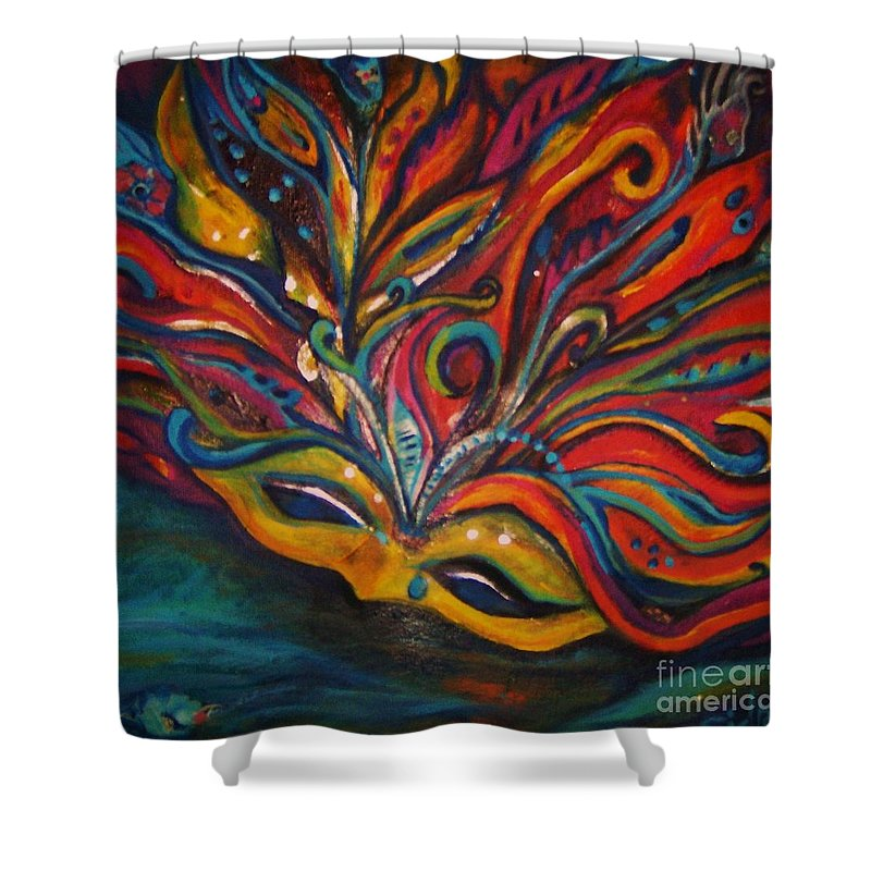 New Orleans Shower Curtain featuring the painting A Tear For New Orleans by Sidra Myers