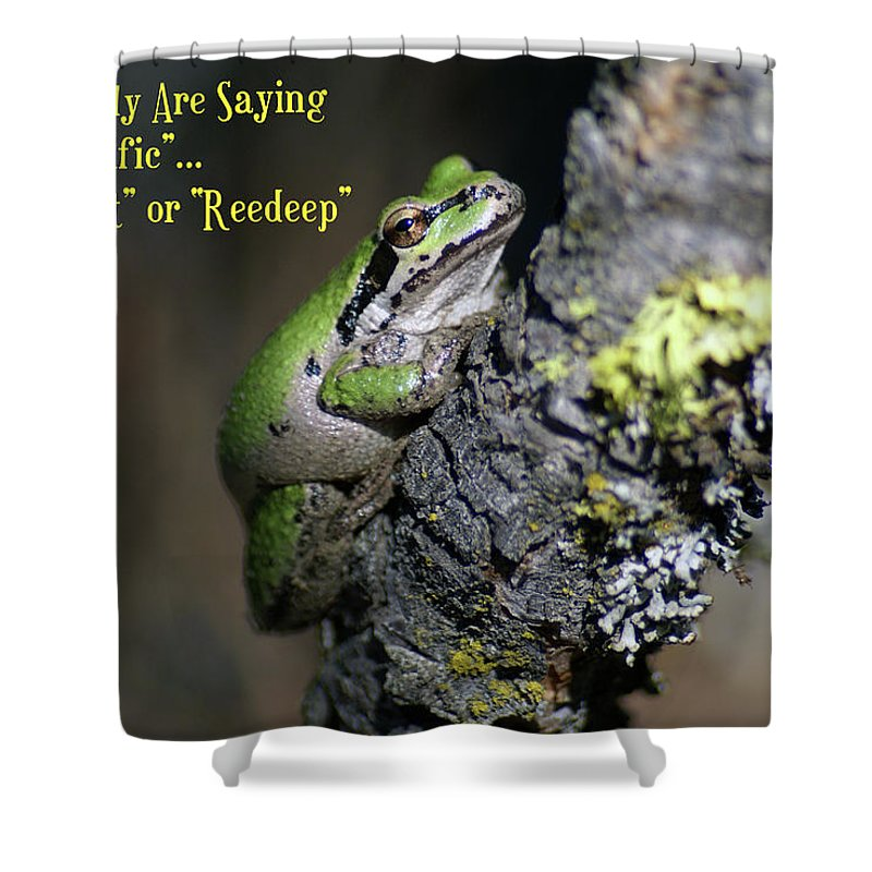 Frog Shower Curtain featuring the photograph A Terrific Frog #1 by Ben Upham III