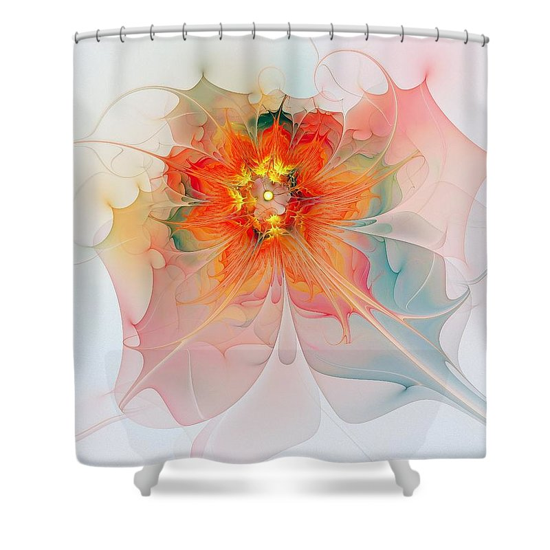 Digital Art Shower Curtain featuring the digital art A Touch Of Spring by Amanda Moore