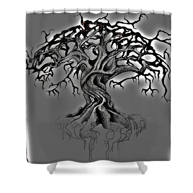Tree Shower Curtain featuring the digital art A Tree by Duste' Miles
