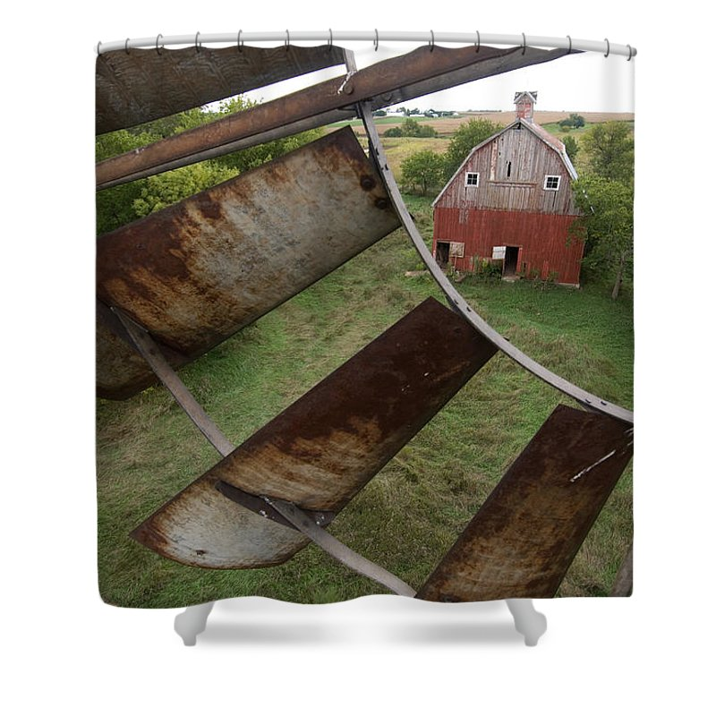 Photography Shower Curtain featuring the photograph A Turn-of-the-century Peg Barn As Seen by Joel Sartore