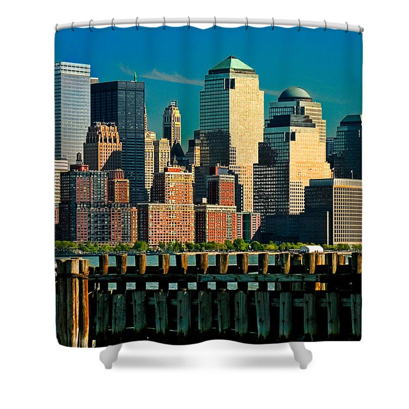 Manhattan Shower Curtain featuring the photograph A View From Hoboken by Chris Lord