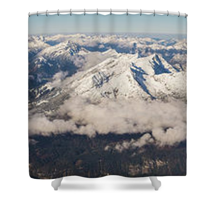 Zugspitze Shower Curtain featuring the photograph A View From Zugspitze by Benjamin Reed