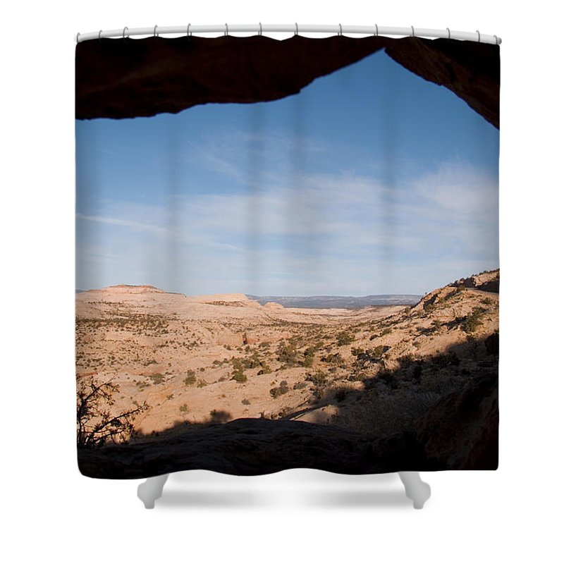 Utah Shower Curtain featuring the photograph A View Through A Window Into The Grand by Taylor S. Kennedy