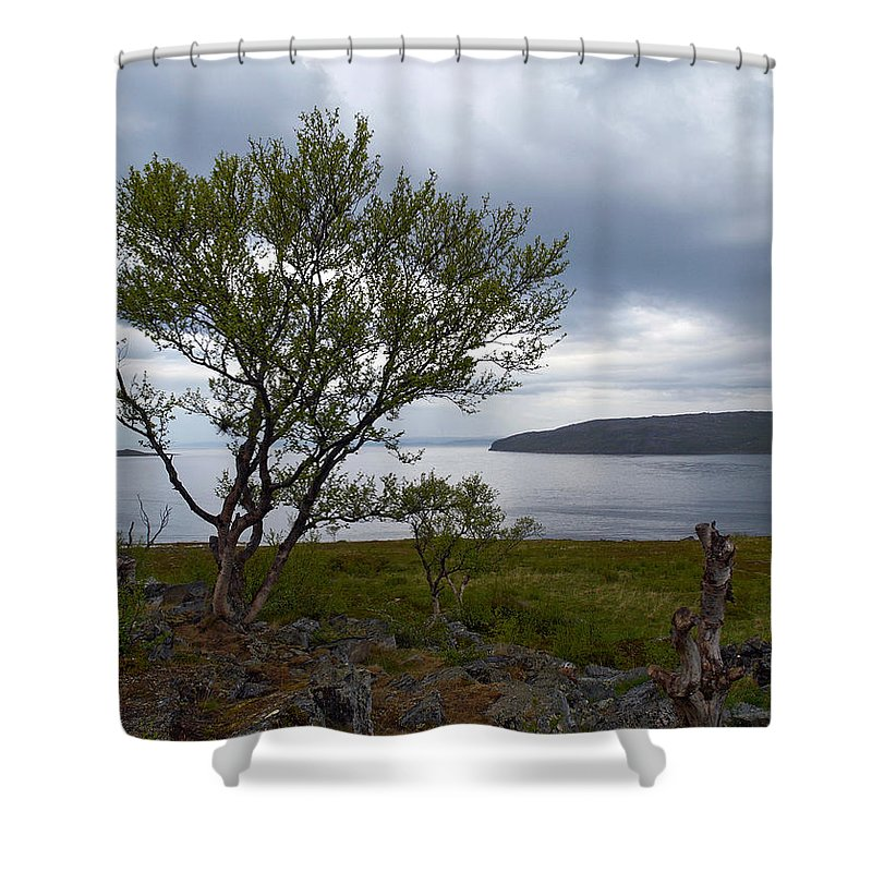 Lehtokukka Shower Curtain featuring the photograph A View To The Arctic Sea by Jouko Lehto