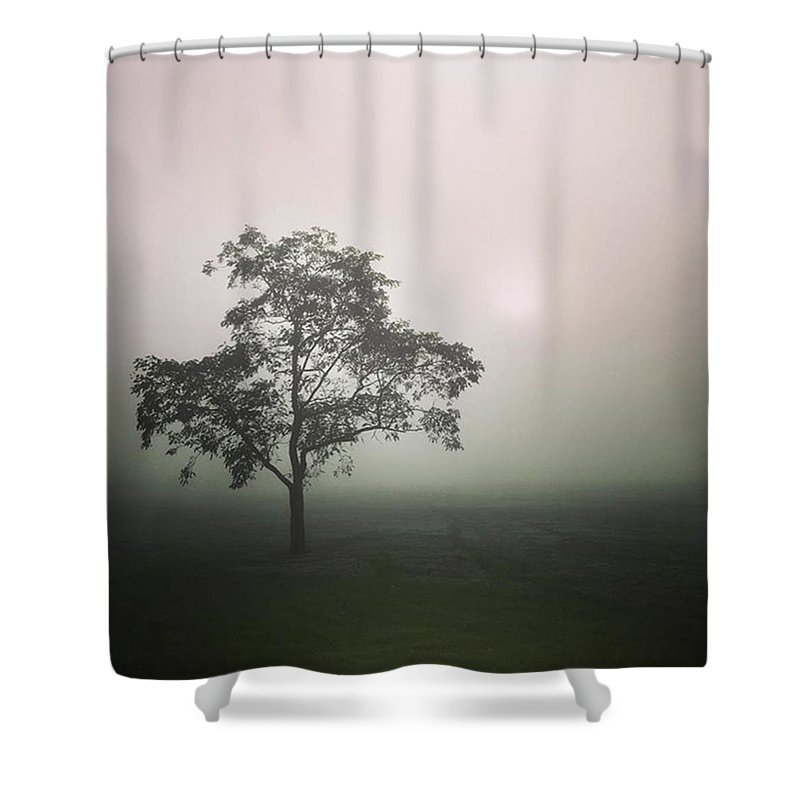 Fog Shower Curtain featuring the photograph A Walk Through The Clouds #fog #nuneaton by John Edwards