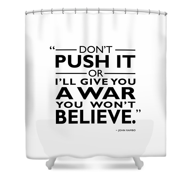 Rambo Shower Curtain featuring the photograph A War You Wont Believe by Mark Rogan
