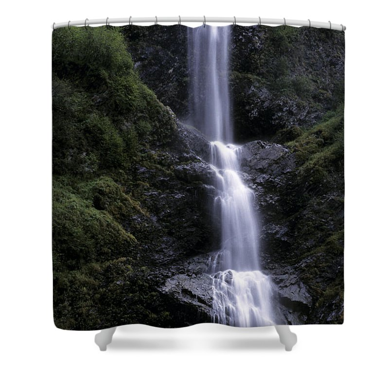 Alaska Shower Curtain featuring the photograph A Waterfall In Alaska by Stacy Gold