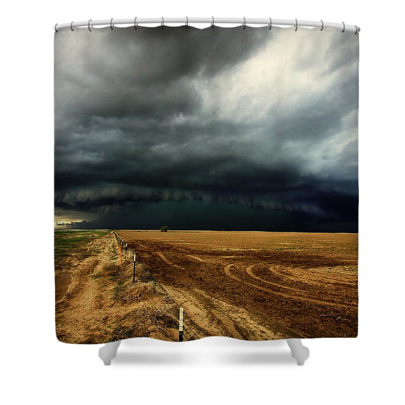 Landscape Shower Curtain featuring the photograph Nature's Watering Of The Crops by Brian Gustafson