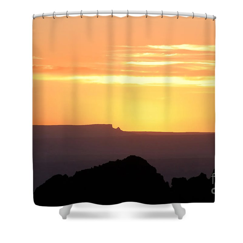 Western Us Shower Curtain featuring the photograph A Western Sunset by David Lee Thompson