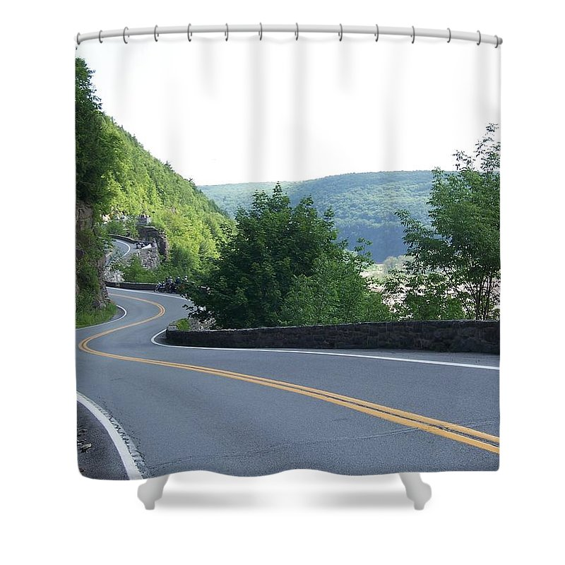 Road Shower Curtain featuring the photograph A Winding Road by Laurie Paci