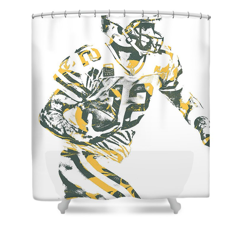 Aaron Rodgers Green Bay Packers Pixel Art 22 Shower Curtain For Sale By Joe Hamilton