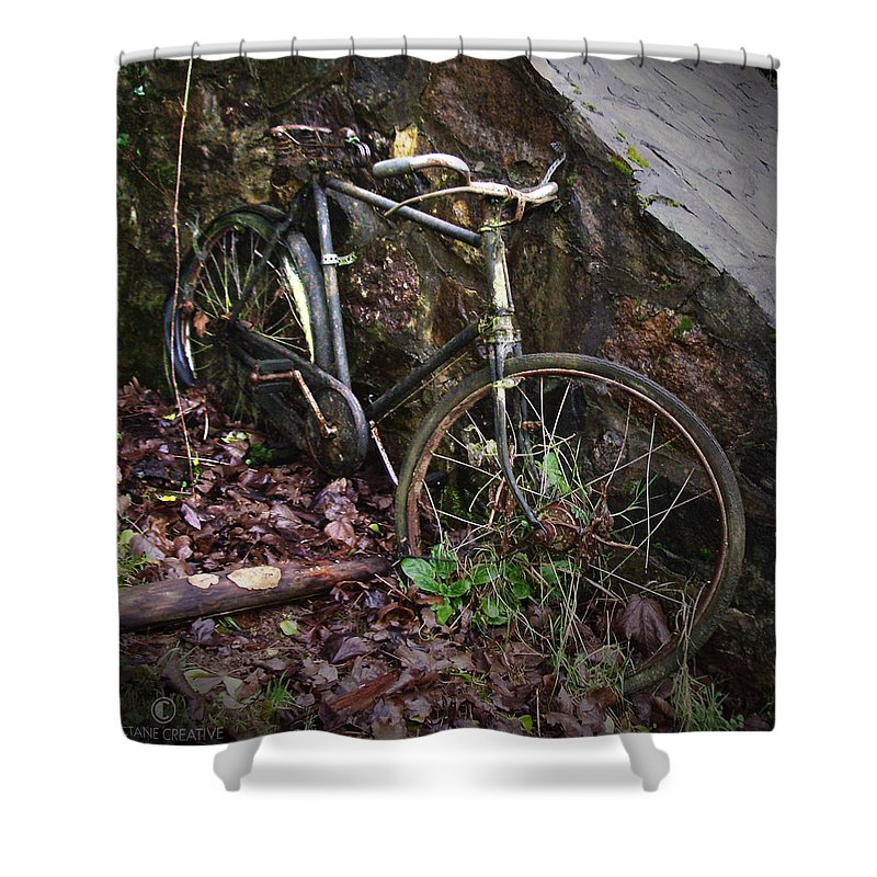 Irish Shower Curtain featuring the photograph Abandoned Bicycle by Tim Nyberg