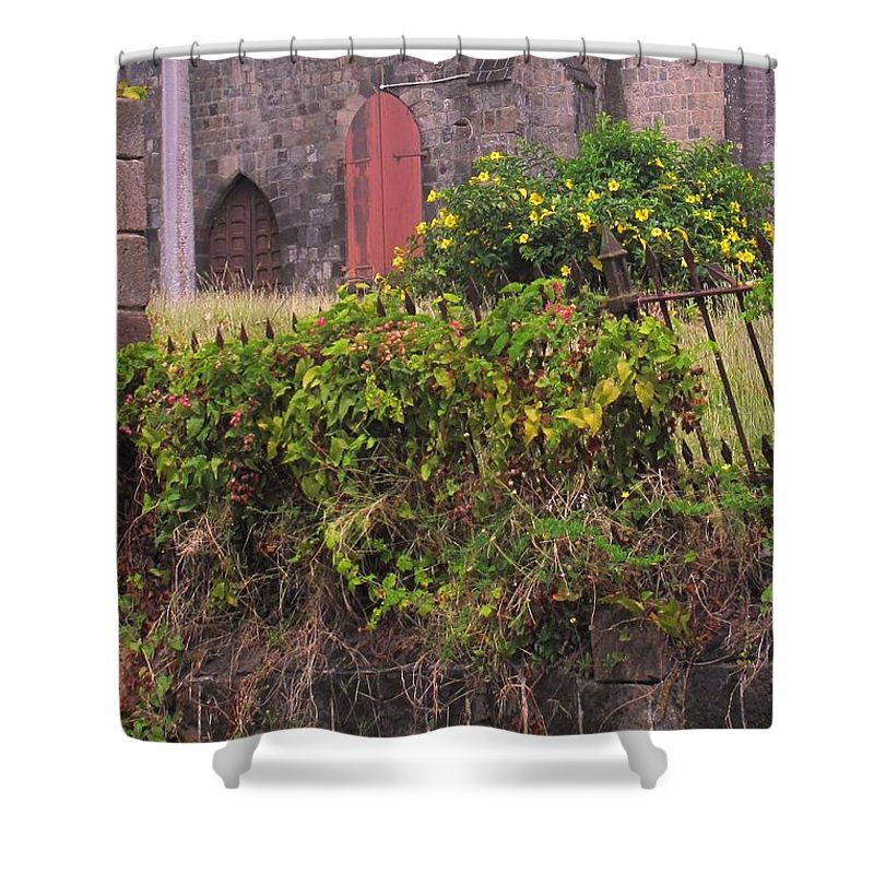 Anglican Shower Curtain featuring the photograph Abandoned Churchyard by Ian MacDonald