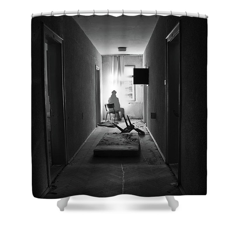 Abandoned Shower Curtain featuring the photograph Abandoned by Dejan Dajkovic