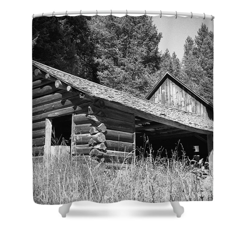 Cabin Shower Curtain featuring the photograph Abandoned Homestead by Richard Rizzo