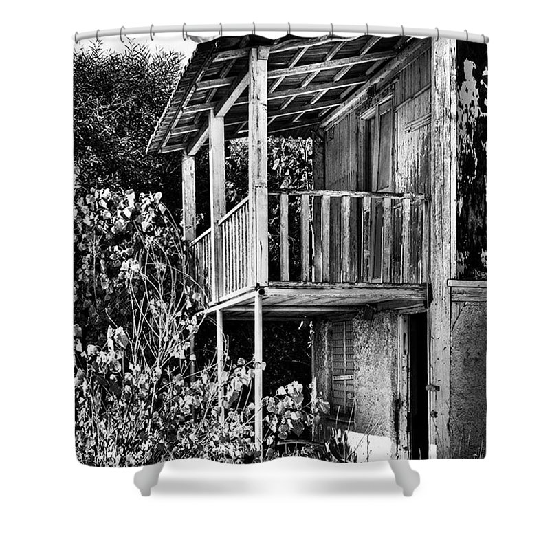 Amazing Shower Curtain featuring the photograph Abandoned, Kalamaki, Zakynthos by John Edwards