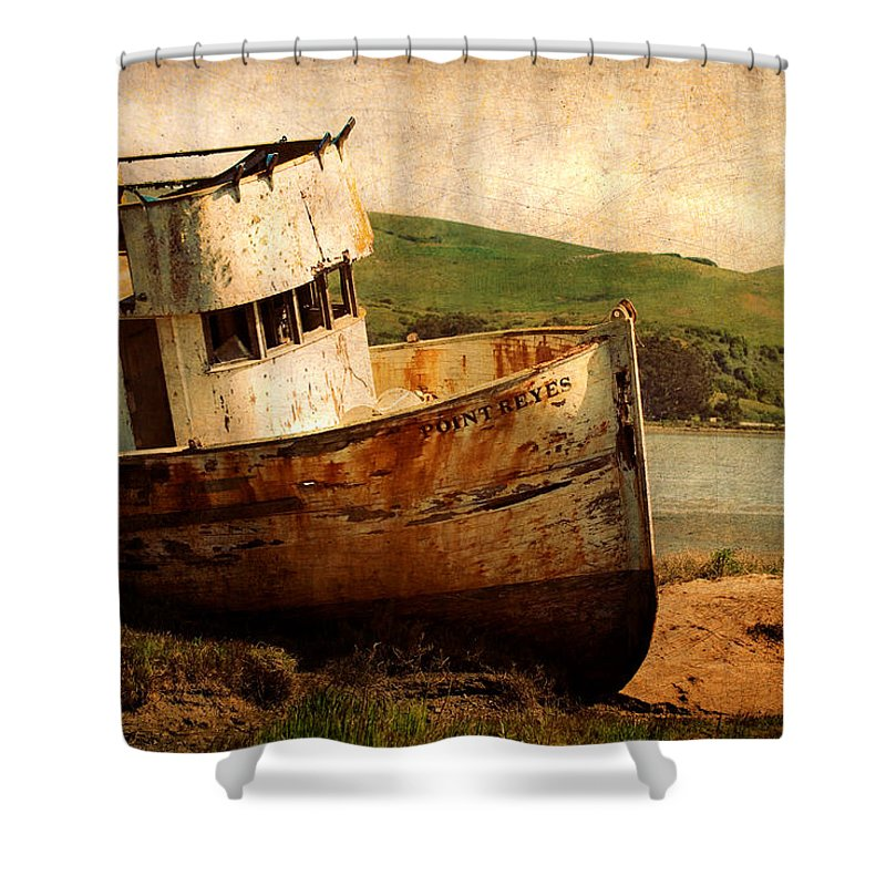 Shipwreck Shower Curtain featuring the photograph Abandoned by Renee Hong