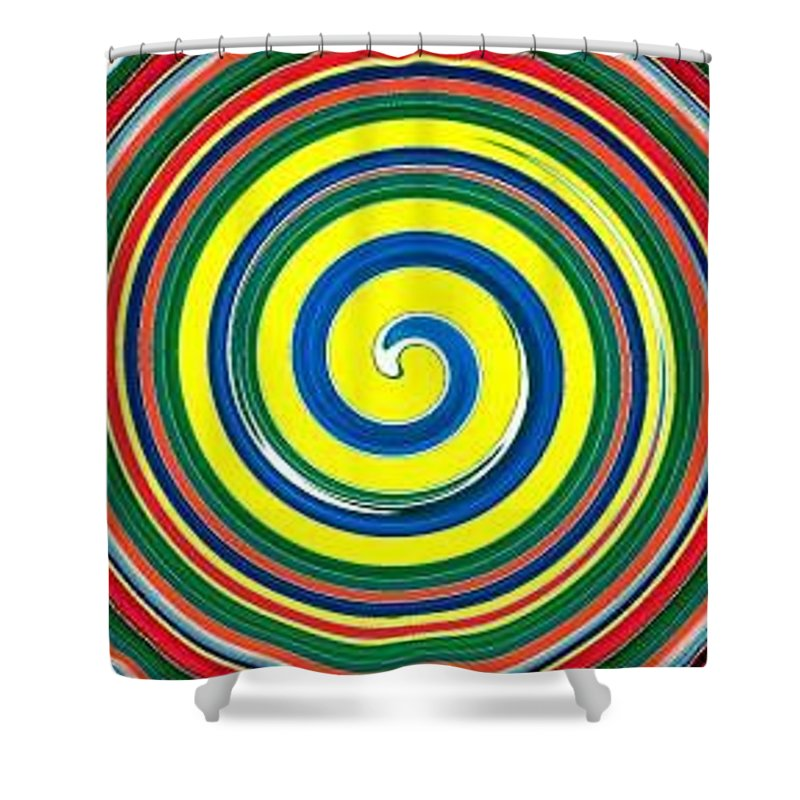 Digital Spiral Shower Curtain featuring the painting Abb1 by Andrew Johnson
